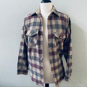 Woolrich Shirts - vintage WOOLRICH men's plaid wool shirt jacket S